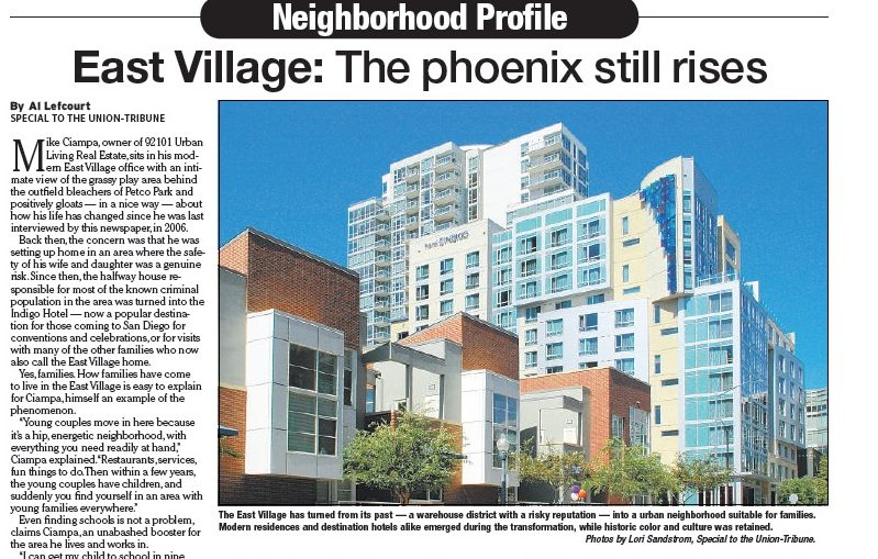 San Diego Union-Tribune Neighborhood Profile Article 2 Copywriter Al Lefcourt