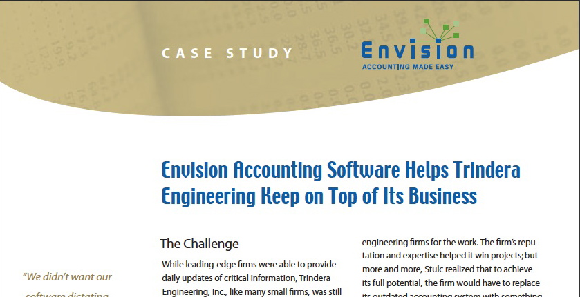 Data Sheet for Envision Accounting Software Freelance Copywriter Al Lefcourt