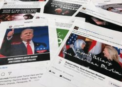 Facebook and Instagram ads linked to a Russian effort to disrupt the American political process. Jon Elswick / AP